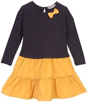 Beebay Baby girl Cotton Solid Princess frock - Yellow