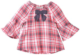 Beebay Viscose Checked Top for Baby Girl - Multi