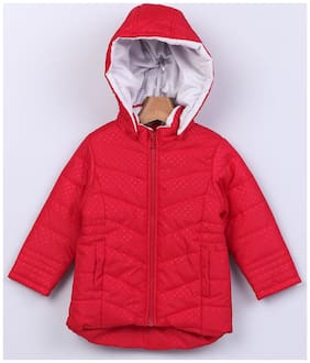 Beebay Girl Polyester Solid Winter jacket - Red