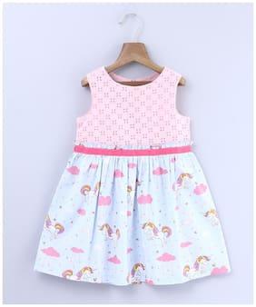 Beebay Baby girl Cotton Printed Princess frock - Pink