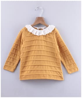 Beebay Girl Cotton Solid Top - Yellow