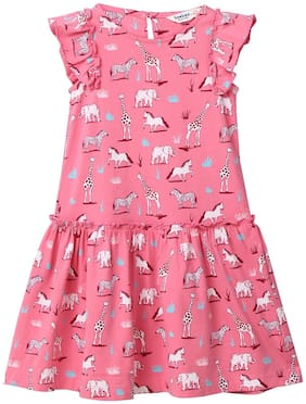 Beebay Cotton Solid Frock - Pink