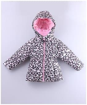 Beebay Girl Polyester Printed Winter jacket - Pink