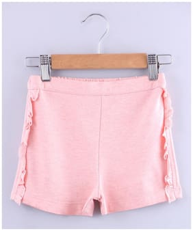 Beebay Girl Poly cotton Solid Hot pants - Pink