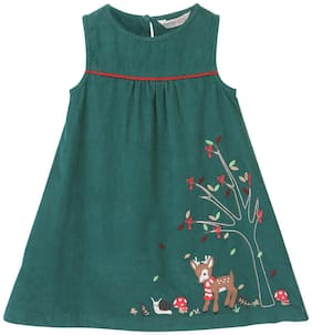 Beebay Baby girl Cotton Solid Princess frock - Green