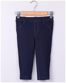 Beebay Girl Cotton blend Track pants - Blue