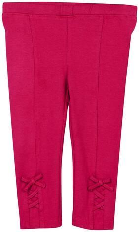 Beebay Girl Cotton Track pants - Maroon