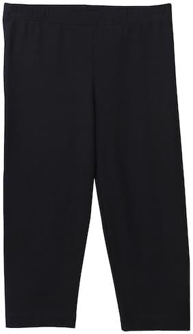 Beebay Knitted Solid Leggings - Black