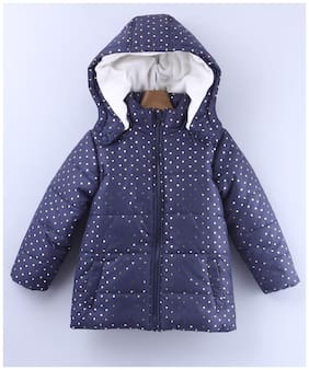 Beebay Girl Polyester Printed Winter jacket - Blue