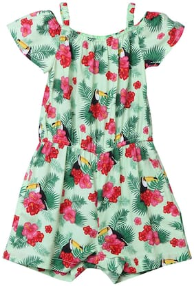 Beebay Baby girl Viscose Solid Romper - Green
