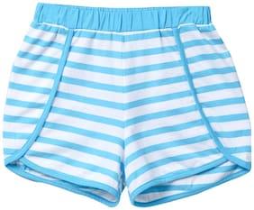 Beebay Girl Cotton Solid Regular shorts - Blue