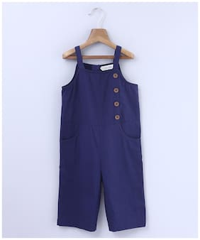 Beebay Cotton Solid Bodysuit For Girl - Blue