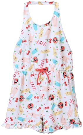 Beebay Baby girl Cotton Solid Jumpsuit - Multi