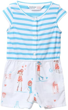 Beebay Baby girl Cotton Solid Romper - White