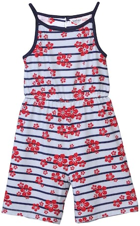 Beebay Baby girl Cotton Solid Romper - Red