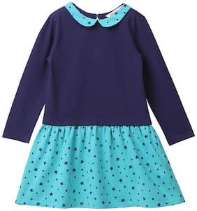 Beebay Blue Knitted Full Sleeves Knee Length ( Pack of 1 )