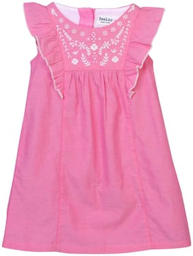 Beebay Baby girl Cotton Solid Princess frock - Pink
