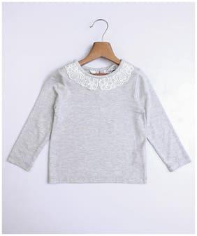Beebay Girl Modal Solid Top - Grey