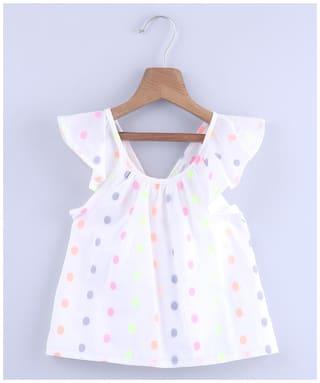 Beebay Girl Cotton Printed Top - White
