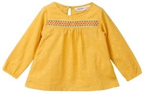 Beebay Girl Cotton Solid Top - Orange