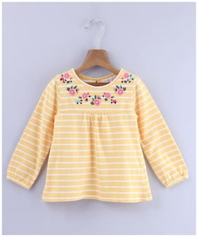 Beebay Blended Floral Top for Baby Girl - Yellow