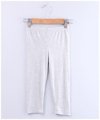 Beebay Girls Grey Melange Leggings-Grey