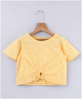 Beebay Cotton Embellished Top for Baby Girl - Yellow