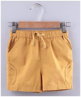 Beebay Boy Solid Shorts & 3/4ths - Yellow
