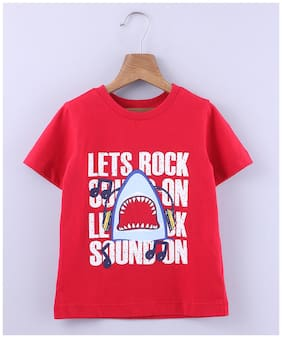 Beebay Cotton Printed T shirt for Baby Boy - Red