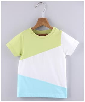 Beebay Cotton Colorblocked T shirt for Baby Boy - Multi