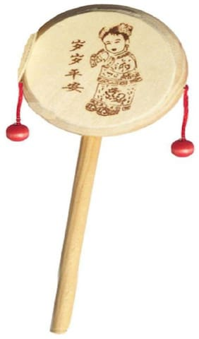 Being Creative Wooden Rattle Drum Instrument Musical Toy for kids