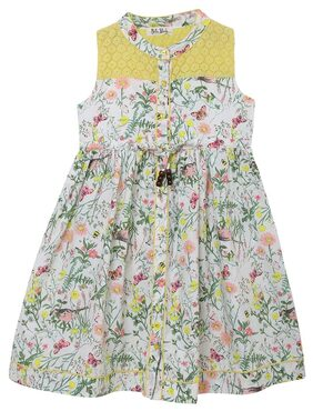 Bella Moda Girl Cotton Printed Frock - Multi