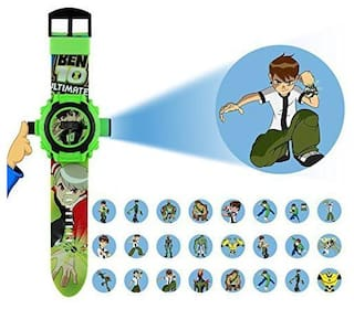 Ben 10 24 Image Character Kids Projector Watch (Green Color) Pack Of - 1 By Signomark.