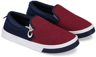 BERSACHE Maroon Canvas shoes for boys