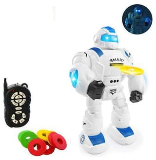 Bestie Toys Remote Control Intelligent Robot Iron Soldier Robot Smart Interactive Walking, Music, Dancing Shoot Disc with Robotic