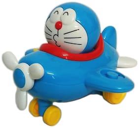 Bestie Toys Doraemon Moving Head Aeroplane Pull Along Toy