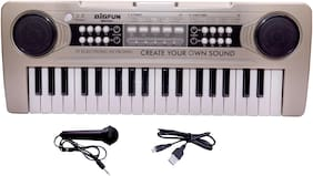 Beston 37 Keys Toy Piano with Microphone, USB Power Cable & Sound Recording Function