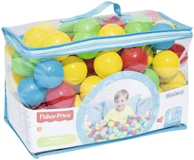 Bestway Fisher Price Ball Pit Ball Blue, Green, Red, Yellow 100 pcs