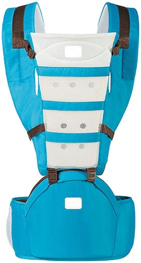 Bey Bee : Baby Hip Seat for New Born Babies 3 in 1 Way for Kids (Sea Blue) 4 Way