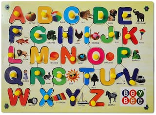 Bey Bee Wood Educational Toys baby Smart skills (Upper Alphabets Learning Kit)