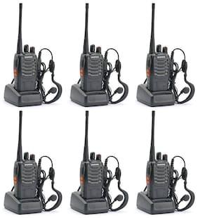 BF-888S UHF 400-470MHz 16CH CTCSS/DCS With Earpiece Handheld Amateur Radio Walkie Talkie 2 Way Radio Long Range;Black (6 Pack)
