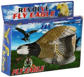 Bharatbuyz Plastic Flying Eagle Bird Toy, String to Attach