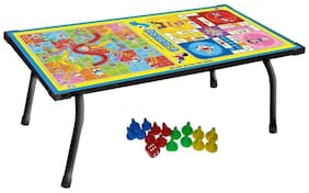 Bhoomi 2 in 1 Kids Board Game Table Ludo, Snake & Ladder Support Table and Multipurpose Table|| T-01