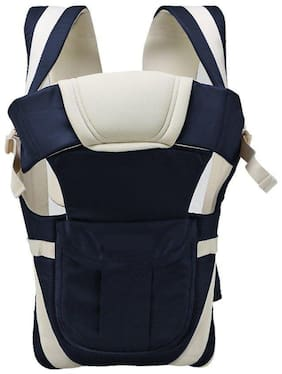 Bhoomi Adjustable Hands-Free || 4-in-1 Baby Carrier Bag || Carry Bag ||Front Carry Bag with Comfortable Head Support || Buckle Straps waist Belt || Navy Blue || BE-001