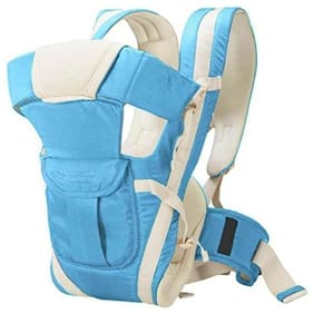 Bhoomi Adjustable Hands-Free || 4-in-1 Baby Carrier Bag || Carry Bag ||Front Carry Bag with Comfortable Head Support || Buckle Straps waist Belt || Sky Blue || BE-002