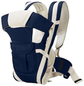 Bhoomi Adjustable Hands-Free || 4-in-1 Baby Carrier Bag || Kangaroo Bag || Carry Bag ||Front Carry Bag with Comfortable Head Support || Buckle Straps waist Belt || Navy Blue || BE-010