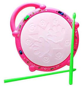 Bhoomi Flash Drum Toy with 5 Visual 3D Lights|| Music|| 3 Game Modes for Kids|| Musical Instrument for Kids||Drum Toy for Kids|| Babies||Musical Toy for Kids||A-01