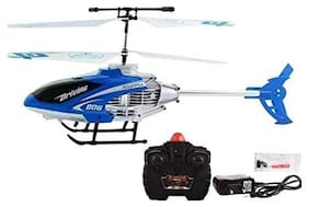 Bhoomi  Premium Super Alloy Velocity Remote Control Mini Helicopter with Rechargeable Batteries || Blue|| H-04