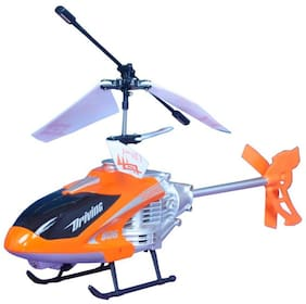 Bhoomi  Premium Super Alloy Velocity Remote Control Mini Helicopter with Rechargeable Batteries || Orange|| H-08
