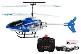 Bhoomi  Premium Super Alloy Velocity Remote Control Mini Helicopter with Rechargeable Batteries || Blue|| H-10